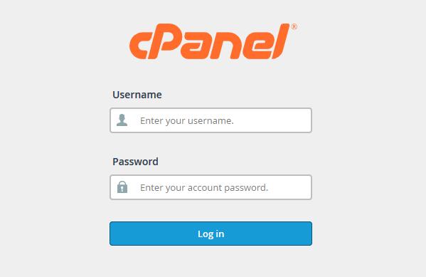 Prijava v cPanel