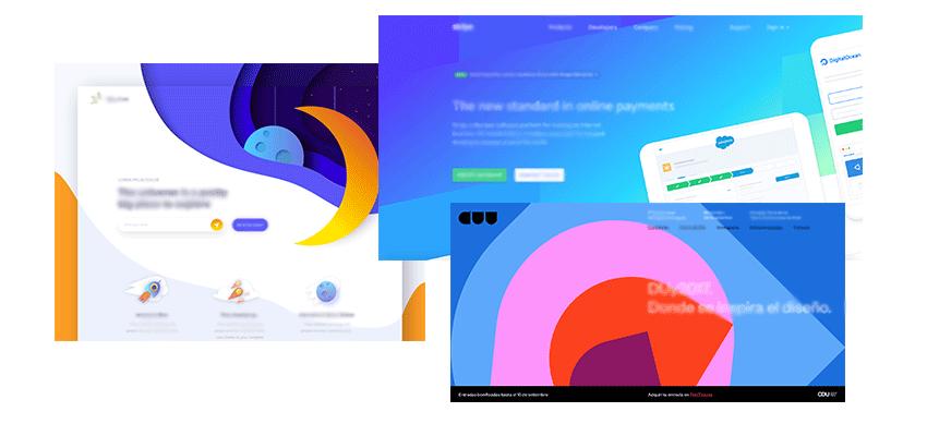 Barvne sheme spletnih strani v letu 2018