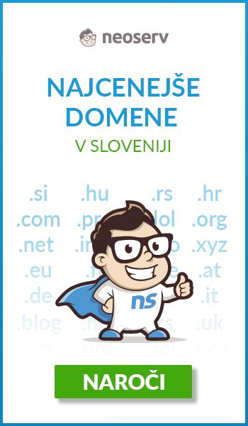 Nakup najcenejše domene v Sloveniji